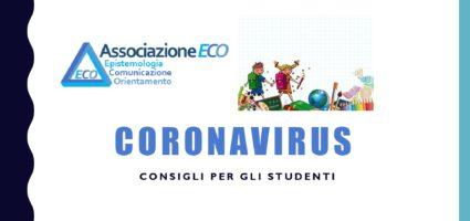 Coronavirus: consigli per gli studenti